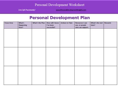Personal Development Plan For Managers  Google Search  Forms