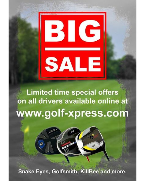 Discover Our Big Sale Of Golf Clubs From Brands Such As Golfsmith Snake Eyes And Many More See Our Link In Our Bio Express Yoursel In 2020 Big Sale Snake