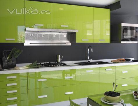 Cocina Verde Cocinas Modernas Decoracion De Cocina Y Cocinas
