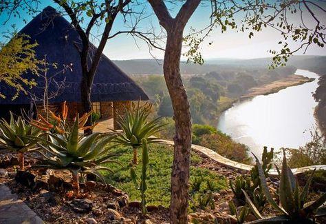 Olifants Camp with Olifants River below, Kruger Park, South Africa