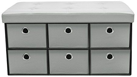 Sorbus Storage Ottoman Bench With Drawers Collapsible Folding Bench Chest With Cover Perfec Storage Ottoman Bench Bench With Drawers Cubby Drawer