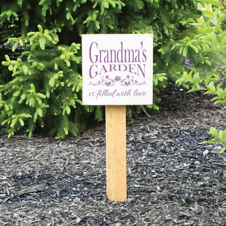 Personalized Filled With Love Garden Sign With Stake Garden