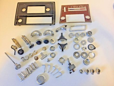 VINTAGE CAR & TRUCK PARTS 59 PIECE LOT 1950 1960 ITEMS RAT ROD FORD CHEVY BUICK #FORDCHEVYBUICK
