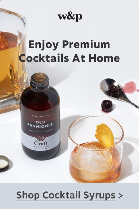 Craft Streamline your happy hour routine with our small-batch cocktail syrups and kits. Each product features everything you need to mix up a classic cocktail from your home bar. Simply add your favorite spirit, bubbles, or zero-proof mixer, stir and serve.