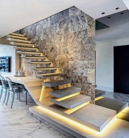 30 Perfect Living Room Staircase Design Ideas Coodecor Luxury Staircase Home Stairs Design Stairs Design Modern
