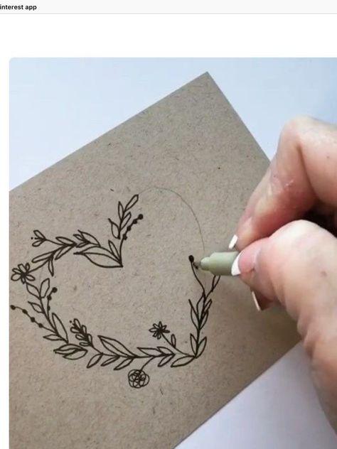 Diy And Crafts, Arts And Crafts, Paper Crafts, Embroidery Hearts, Envelope Art, Heart Envelope, Envelope Design, Bullet Journal Inspiration, Diy Cards