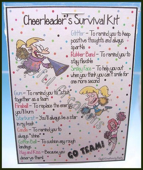 Inexpensive Cheerleading Gift Ideas   Ms. & Mrs. - Cheerleader's Survival Kit