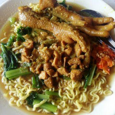 Mie Ayam Ceker Pedas Resep Masakan Ide Makanan Makanan Dan Minuman