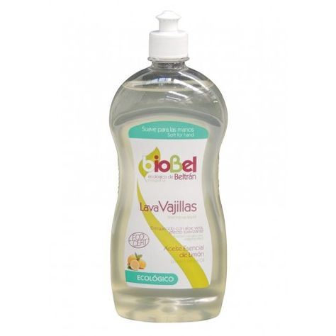 Lavavajillas bioBel Ecológico de Jabones Beltrán. Ingredientes de origen 100% vegetal, sin elementos petroquímicos ni de origen animal.