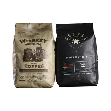 Coffee combo includes one bag of Barrel Aged Coffee and one bag of Texian Army Brew. Buy the coffee combo and get our two most popular brews at a discounted price. 10oz Bags Start subscribing and receive fresh coffee 5-10% off with free shipping.