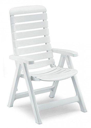pliables de en Fauteuil Blanc résine jardin fauteuils R5AL4j