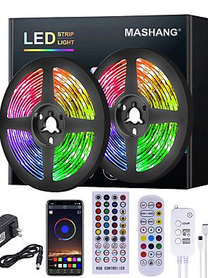 Mashang 5m 10m 15m 20m Rgb Led Strip Lights Music Sync 12v Waterproof Led Strip 2835 Smd Color Changing In 2020 Led Strip Lighting Strip Lighting Rgb Led Strip Lights