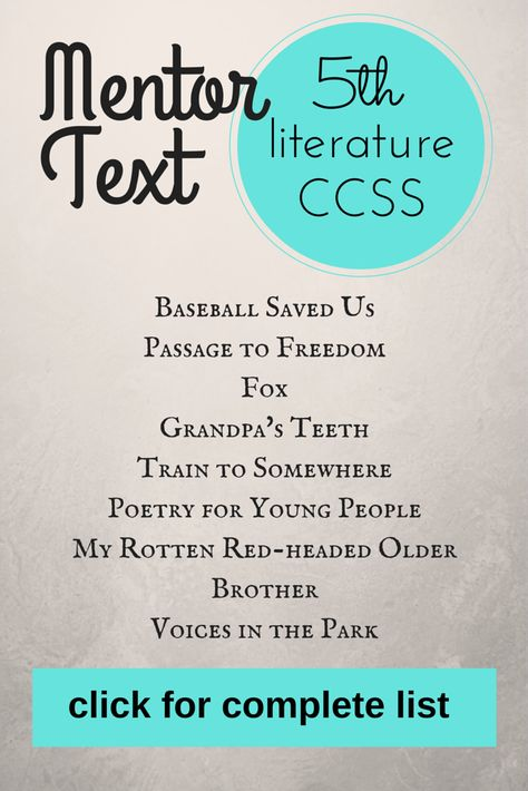 So going to use this next year! Mentor text for teaching Reading CCSS. It has 4th, 5th, and 6th grade! #mentortext