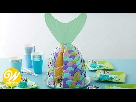 Whether you're dreaming of mermaid wishes or starfish kisses, this Mer-mazing Pastel Mermaid Cake is here to make a splash! Made using Rosanna Pansino's Princess Pan, this cake is great for ocean-inspired parties and celebrations.