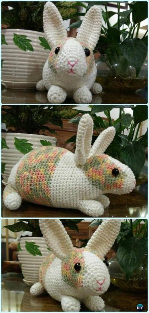Classic Amigurumi Bunny Crochet Pattern   Crochet bunny pattern ...   997x474