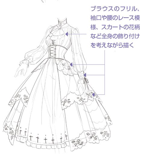 Drawing clothes reference character design new Ideas Drawing Anime Clothes, Dress Drawing, Clothing Sketches, Dress Sketches, Fashion Design Drawings, Fashion Sketches, Drawing Fashion, Kleidung Design, Anime Drawings Sketches