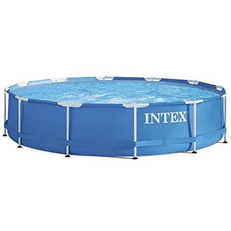 Intex Kit De Piscine Tubulaire Ronde Bleu 366 X 366 X 76 Cm 6500 L