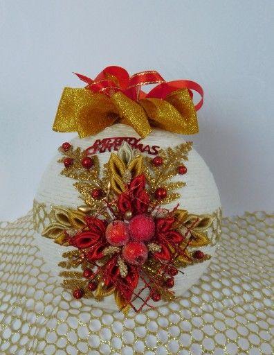 Bombka Sznurkowa Na Choinke Prezent Rekodzielo 8103924186 Oficjalne Archiwum Allegro Ornaments Gifts Gift Wrapping