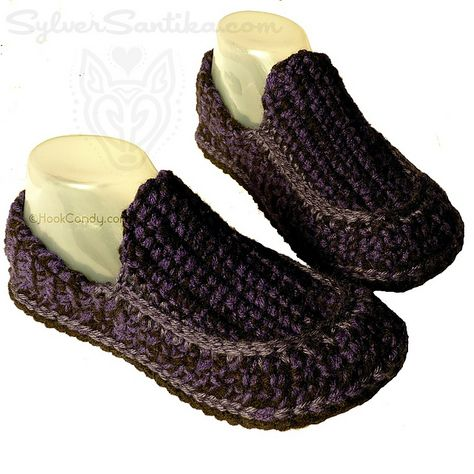 15af4b2b92d Ravelry  Loafer Slippers (men and women) pattern by Sylver Santika