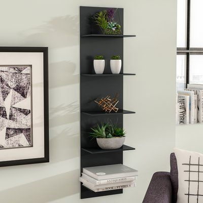 Molina Wide Column Wall Shelf Allmodern Industrial Wall
