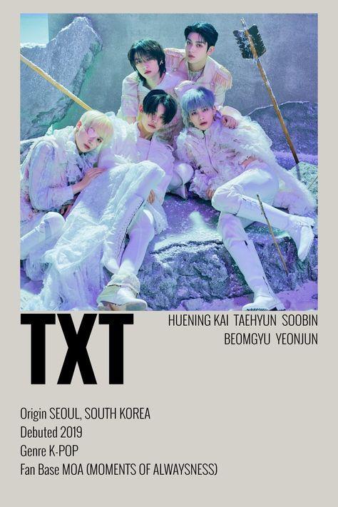 TXT Minimalist Poster