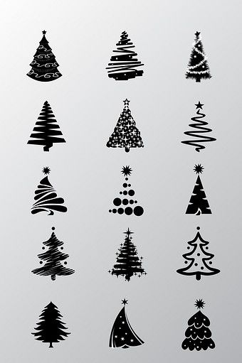 Black Christmas Tree Hand Drawn Elements Png Images Ai Free Download Pikbest Black Christmas Trees Black Christmas How To Draw Hands