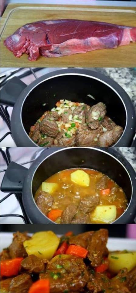 Carne De Panela Com Batatas Com Imagens Carne De Panela
