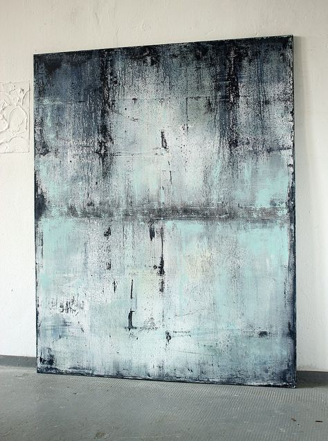 CHRISTIAN HETZEL: blue with past 2016 - 150 x 120 cm - Mischtechnik auf Leinwand,