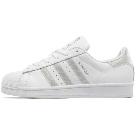 adidas superstar silver glitter and white