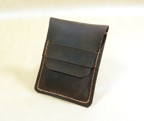 2db87b04e83 Leather Vertical Card Wallet Handmade Wallet by MihaiLeather ...