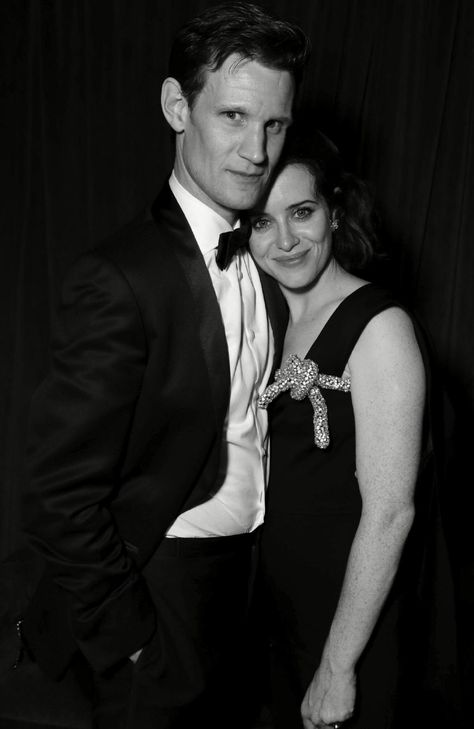 'The Crown' stars Matt Smith and Claire Foy seen at Netflix Primetime Emmys Party. Picture: Shutterstock / Splash News