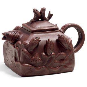 Splashing Koi Yixing Teapot