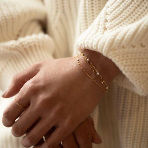 Oli Layered Chain Bracelet - Rose Gold