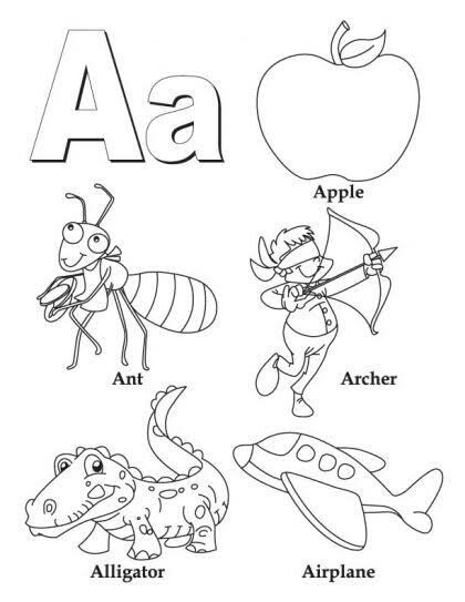 Best Kidc Abc Coloring Books With Animals Name And Word Alphabet Coloring Pages Abc Coloring Letter A Coloring Pages