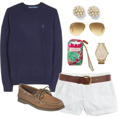 """""""OOTD by classically-preppy on Polyvore"""" I think this is such a cute and comfy outfit, but different shoes."""