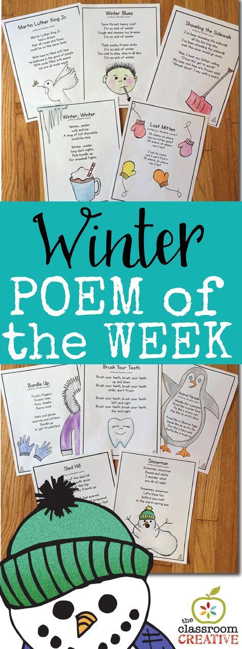 Winter Poem of the Week Unit