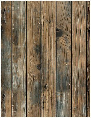 3d Peel And Stick Wallpaper Wood Plank Brown Self Adhesive Distressed Wall Paper Ebay 3 Wood Wallpaper Wood Plank Wallpaper Distressed Walls