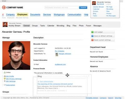 Intranet Profile Screenshots  Google Search  Intranet  People