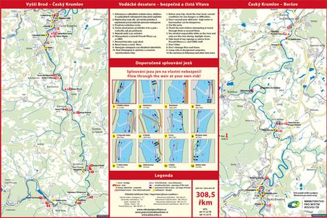 Mapa Vltavy