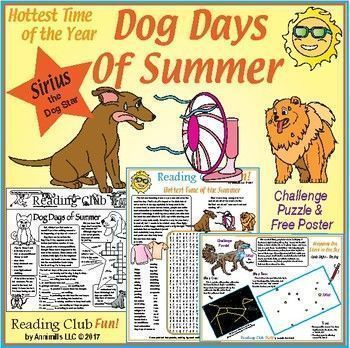 Dog Days Of Summer Puzzle Set The Dog Star Dog Days Summer Words