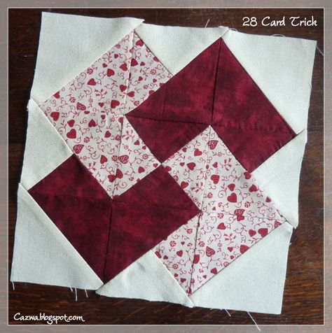 Card Trick Quilt Two Blocks Made Quilts Card Tricks