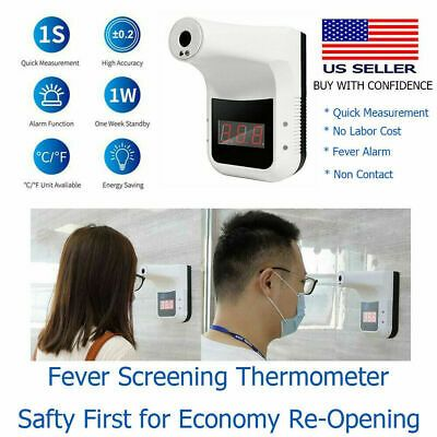 Sponsored Ebay K3 Non Contact Infrared Thermometer Wall Mounted High Precision Thermometer Usa In 2020 Forehead Thermometer Infrared Thermometer Thermometer