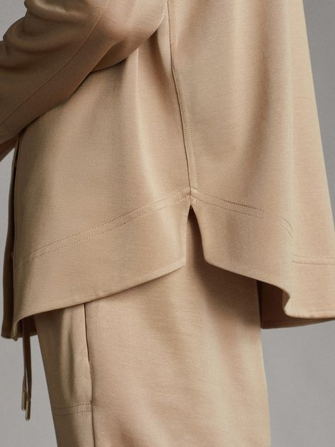 Massimo Dutti - Women - Cotton overshirt with pockets - Camel - Xs