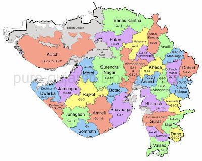 RTO Gujarat Codes For Vehicle Registration Pure Gujarati - North america map in gujarati