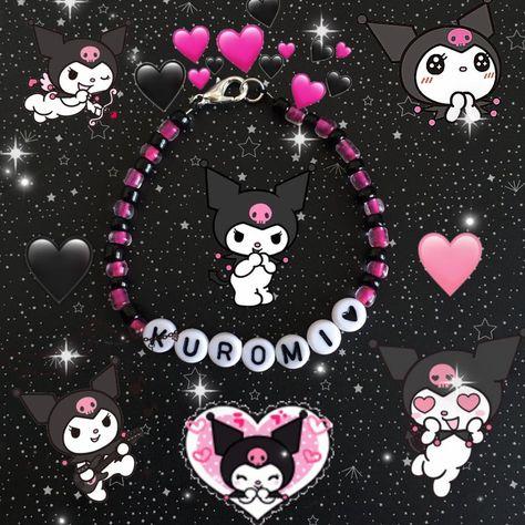 Kandi Bracelets, Seed Bead Bracelets, Seed Beads, Cute Jewelry, Beaded Jewelry, Sanrio Wallpaper, Hello Kitty Items, Accesorios Casual, Letter Beads