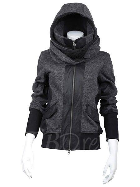 Cool Long Sleeve Zippered Design Women's Hoodie - m.tbdress.com