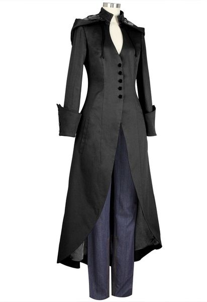 New Gothic Womens Vintage Steampunk Trench Coats Long Jacket Costume Plus Size