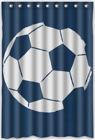 Football Soccer Design Shower Curtain Waterproof Polyester Fabric