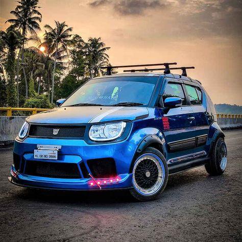 Maruti Suzuki Ignis Modified Into A Crazy Low Rider Ignis Blue