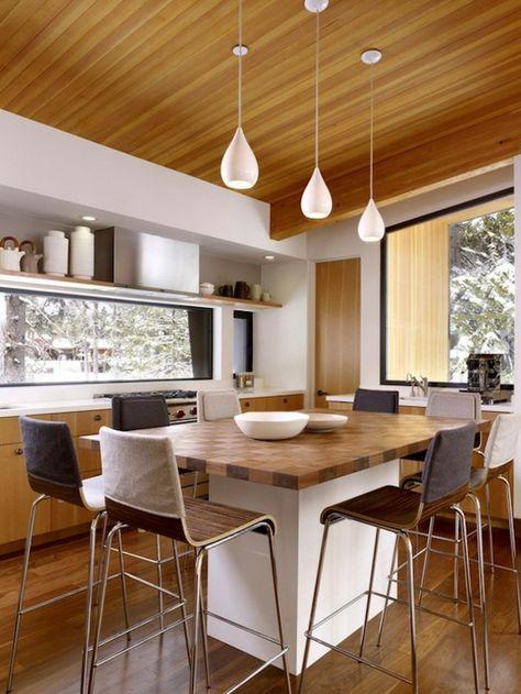 pendelleuchten küche küchentisch barhocker Leuchten Pinterest - küchentisch mit barhockern